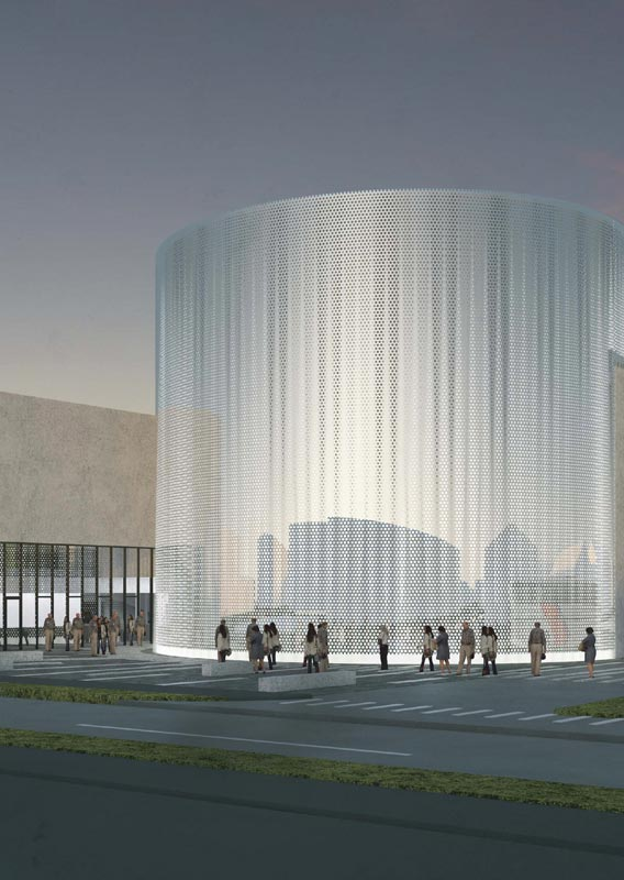 An architect's rendering of the FlyOver Iceland building