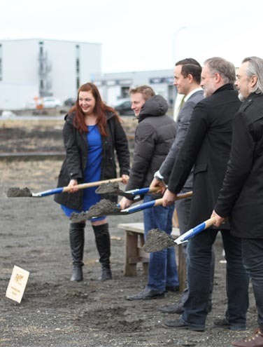 Groundbreaking at FlyOver Iceland