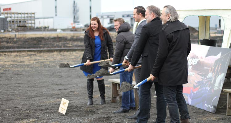 FlyOver Iceland groundbreaking ceremony