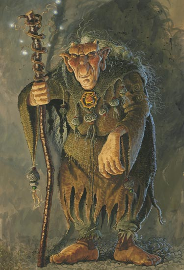 An illustration of a troll by Brian Pilkington.